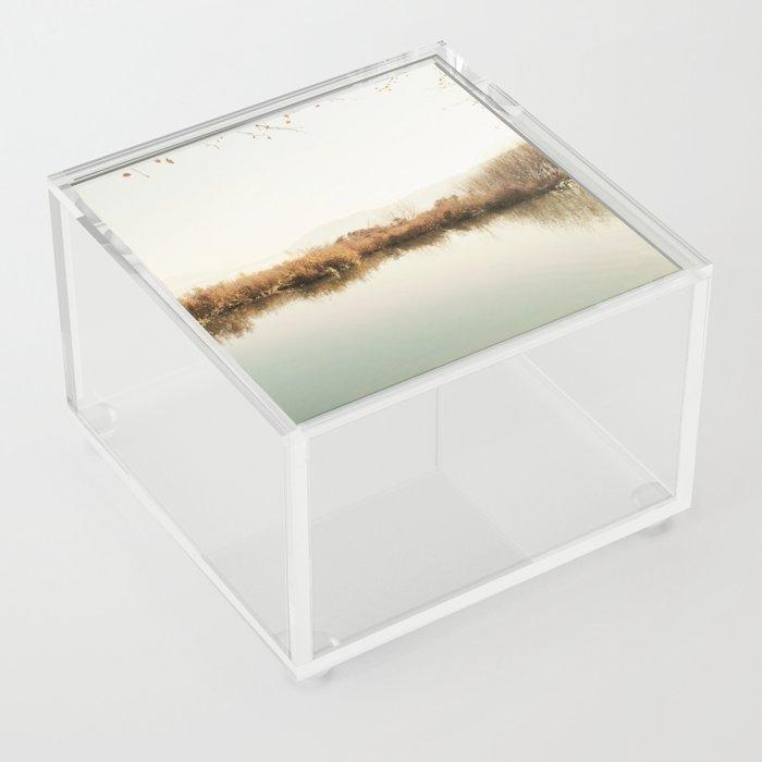 Autumn Lake Scene Acrylic Box