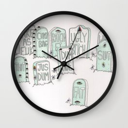 Graveyard Girls Wall Clock