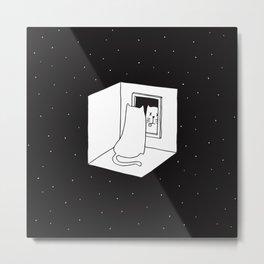 Schrödinger's cat Metal Print