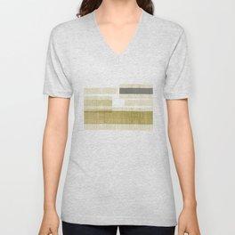 """Burlap Texture Natural Shades"" Unisex V-Neck"