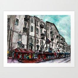 Savannah River Street Art Print