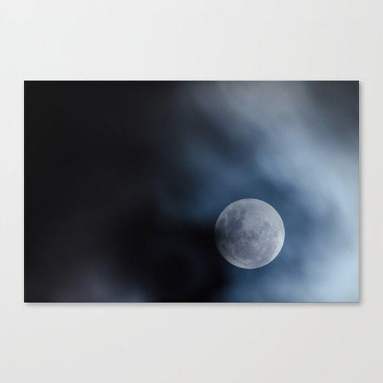 Moon blue 4 Canvas Print