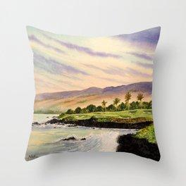 Mauna Kea Golf Course Hawaii Hole 3 Throw Pillow