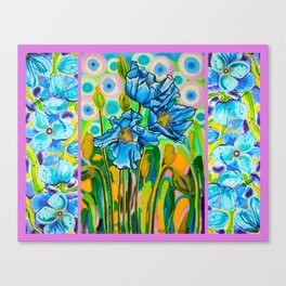 Blue Poppies 2 Canvas Print