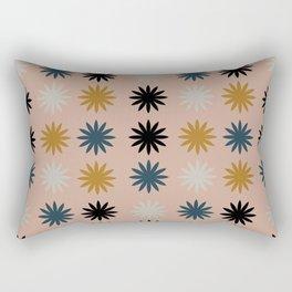 Flower Shapes Pattern Rectangular Pillow