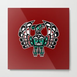 Northwest Pacific coast Haida art Thunderbird Metal Print