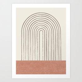 Arch Gray Pink Art Print