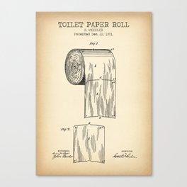 Toilet Paper Roll Vintage Canvas Print