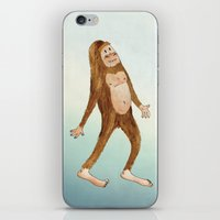 sasquatch iPhone & iPod Skins featuring Sasquatch by Stephanie Marie Steinhauer