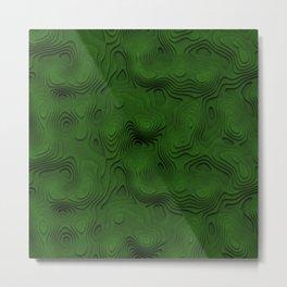 Green Topographic Landscape Metal Print