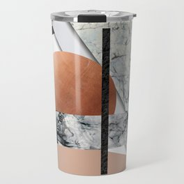 Collage II ( marble, copper, volcanic rock) Travel Mug