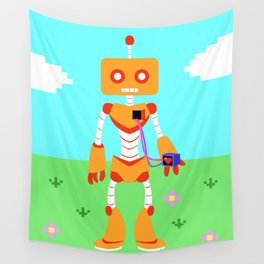A Loving Robot Wall Tapestry