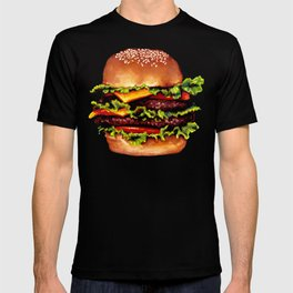 Cheeseburger Pattern T-shirt