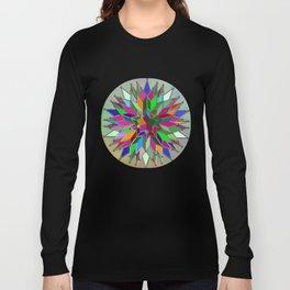 Mandala #106, Star Burst Long Sleeve T-shirt