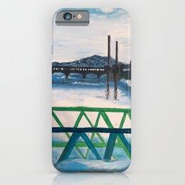 duck bridge in the winter  iPhone Case