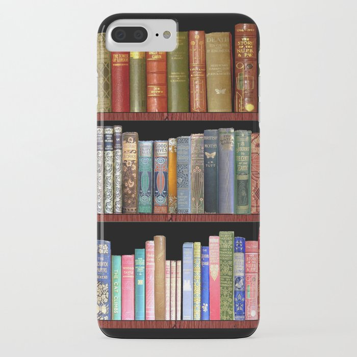 vintage books ft jane austen & more iphone case