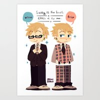 dmmd Art Prints featuring DMMD- weerus and toreep by Mimiblargh