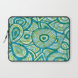 Green Blue Groove Thang Laptop Sleeve