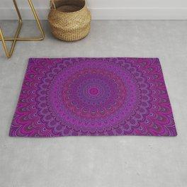 Purple flower mandala Rug