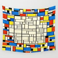 mondrian Wall Tapestries featuring Mondrian by PureVintageLove