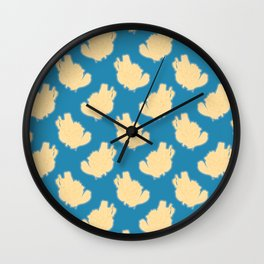 Yellow Leaves Surface Pattern Design Wall Clock