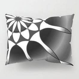 Simple black and grey mandala Pillow Sham