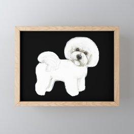 Bichon Frise Dog classic black, Christmas gift, holiday gift for dog lovers, Bichon, Bijon Framed Mini Art Print