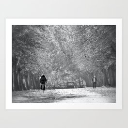 The Sunday Stroll Art Print