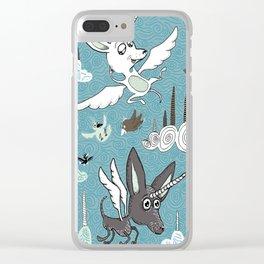 chipegacorn, chihuahua dog + pegasus + unicorn mythical creature! chipegacorn, chihuahua dog + pegas Clear iPhone Case