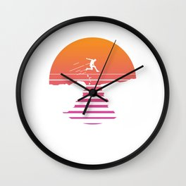 Man Cliff Jumper Cliff Jumping Cliff Diving Retro Gift Wall Clock
