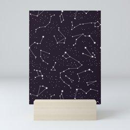constellations pattern Mini Art Print