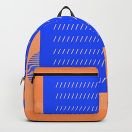 Geometric Blue and orange cool graphic Backpack