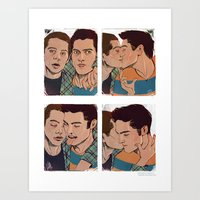 sterek Art Prints featuring Sterek by DakotaLIAR