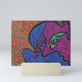 Face and Flames Mini Art Print