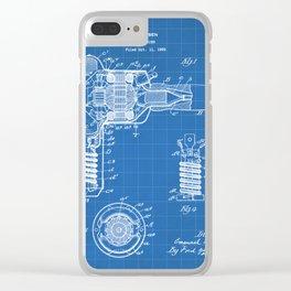 Hair Drier Patent - Salon Art - Blueprint Clear iPhone Case