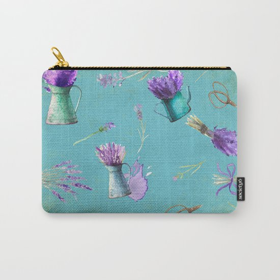 Summer Flower Provence- Lavender Flowers pattern  #Society6 Carry-All Pouch