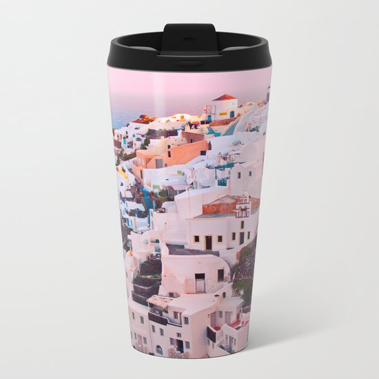 Oia town Santorini Metal Travel Mug