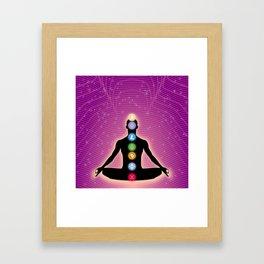 Crypto Chakra Framed Art Print