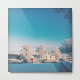 Cold countryside Metal Print