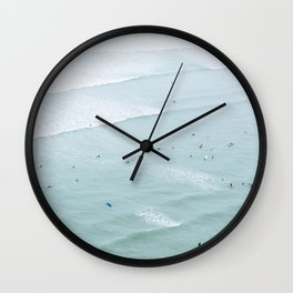 Tiny Surfers from the Sky 2, Lima, Peru Wall Clock