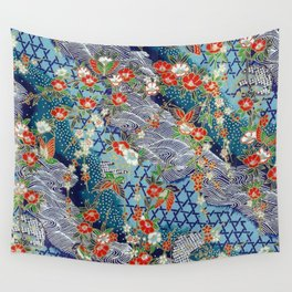 Japanese River Pattern. Wall Tapestry