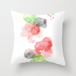 170714 Abstract Watercolour Play 15 |Modern Watercolor Art | Abstract Watercolors Throw Pillow