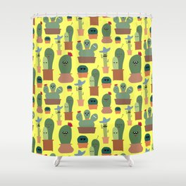 Cactus Family Shower Curtain