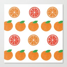 pattern orange Canvas Print