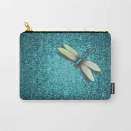 Dragonfly Mosaic Carry-All Pouch