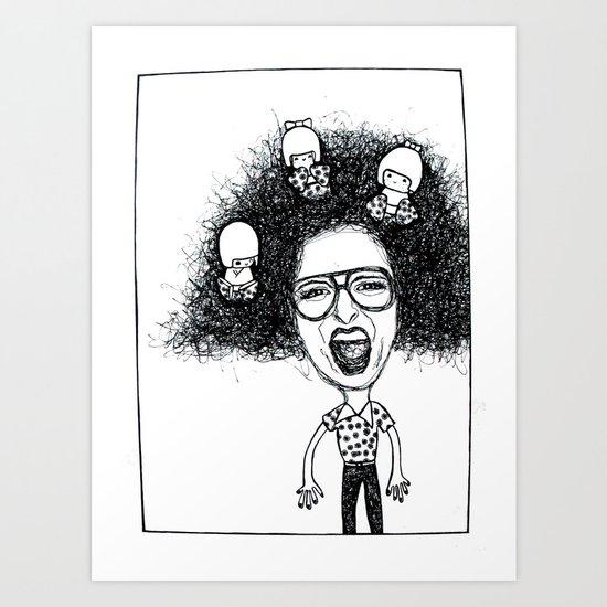 Nutty Rhi Art Print