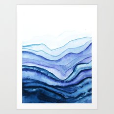 Washed Away Watercolor Art Print