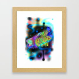howling rainbows Framed Art Print