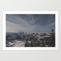 the mountains are calling Art Prints featuring The mountains are calling by UtArt