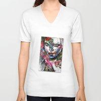third eye V-neck T-shirts featuring third eye by yossikotler